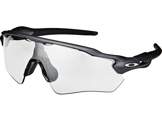 Oakley Radar EV Path Sunglasses Steel/Clear Black Iridium Photocromic
